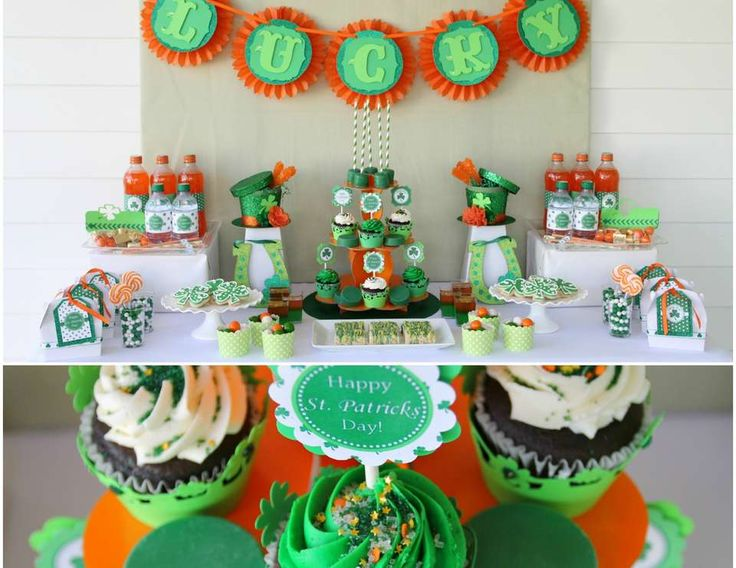 """St Patrick's Day Dessert Table"" 