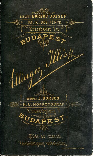 1880s, Ellinger Illés reverse/verzó | Flickr - Photo Sharing!