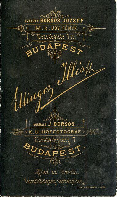 1880s, Ellinger Illés reverse/verzó