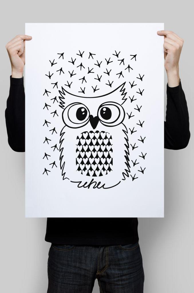 Plakat z sową