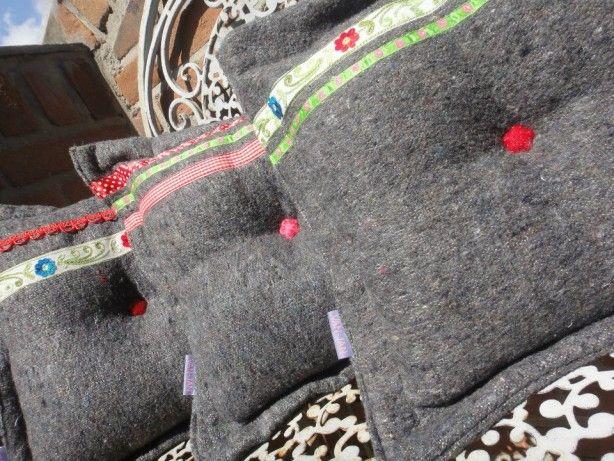 old blanket pillow
