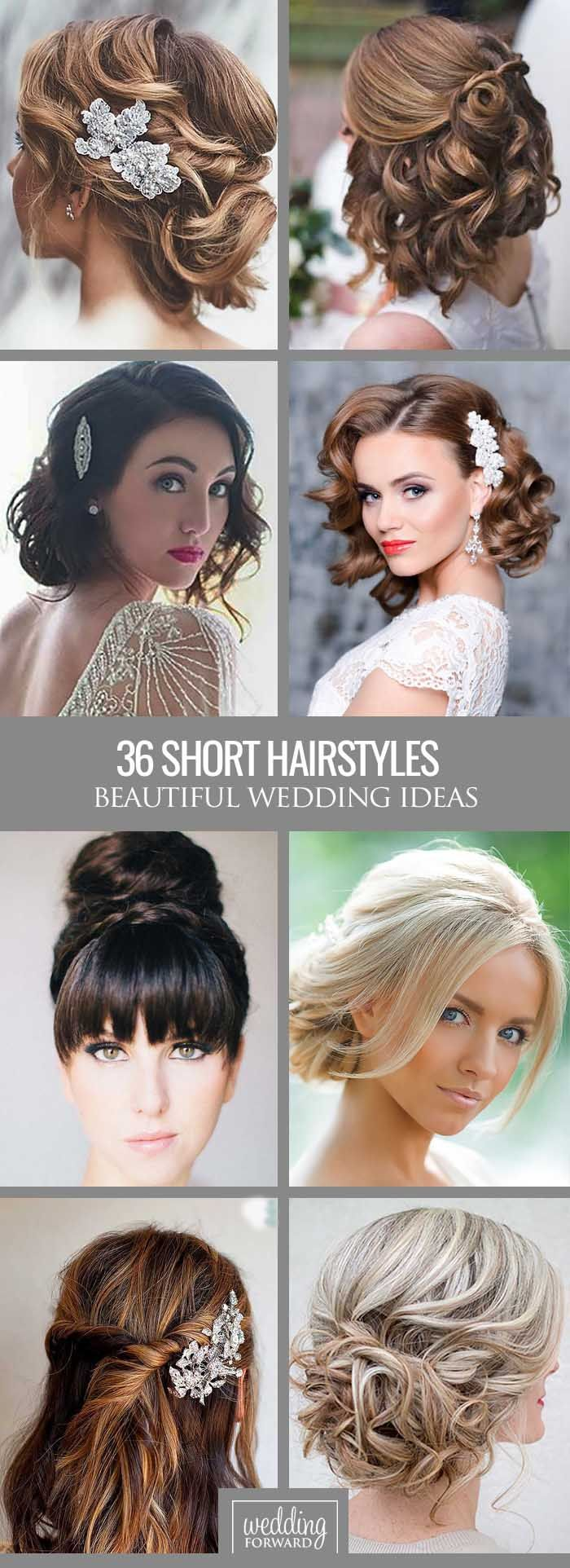 36 Short Wedding Hairstyle Ideas So Good You'd Want To Cut Your Hair ❤ If your…