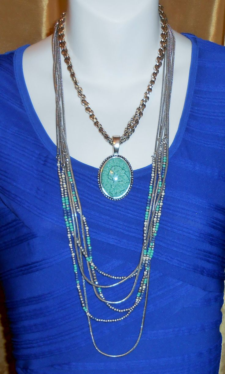 Cozumel Necklace framed with Making Waves Necklace. Awesome combo. billn9638@msn.com