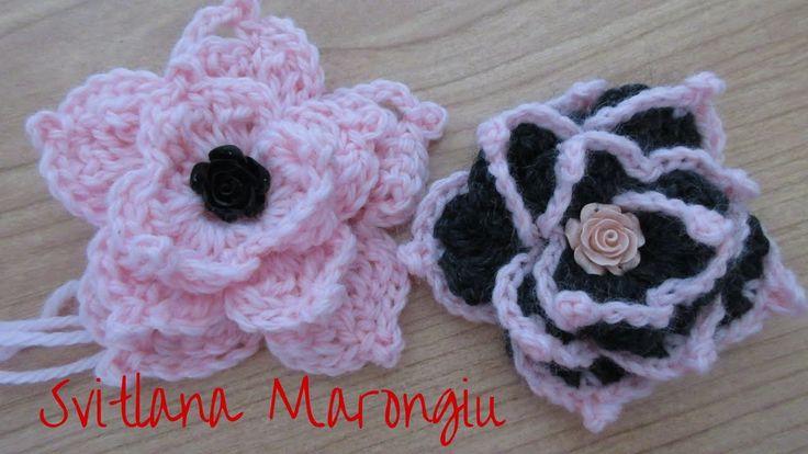 Tutorial Fiore decorativo  all'uncinetto - how to crochet a flower