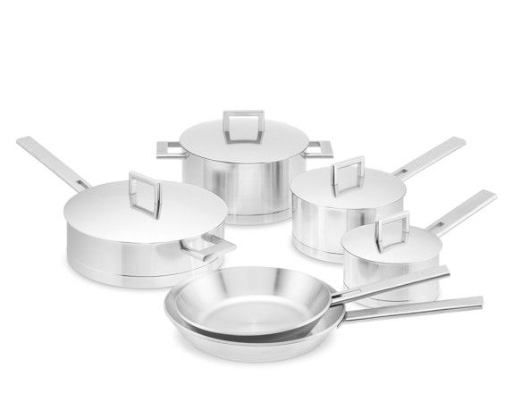 Demeyere John Pawson stainless steel cookware. I would never buy stainless steel cookware, don't like it at all. Am I the only one?