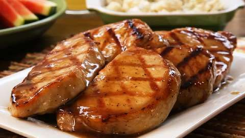 Grilled Brown Sugar Pork Chops Video