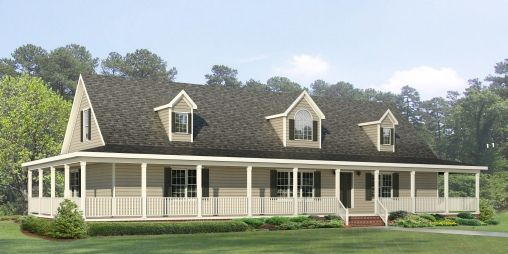 The jamestown rb508a rockbridge modular home a cape for Modular homes with wrap around porch