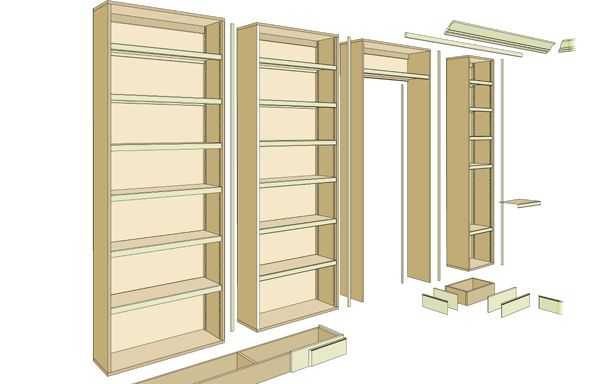 17 best ideas about bookcase plans on pinterest. Black Bedroom Furniture Sets. Home Design Ideas