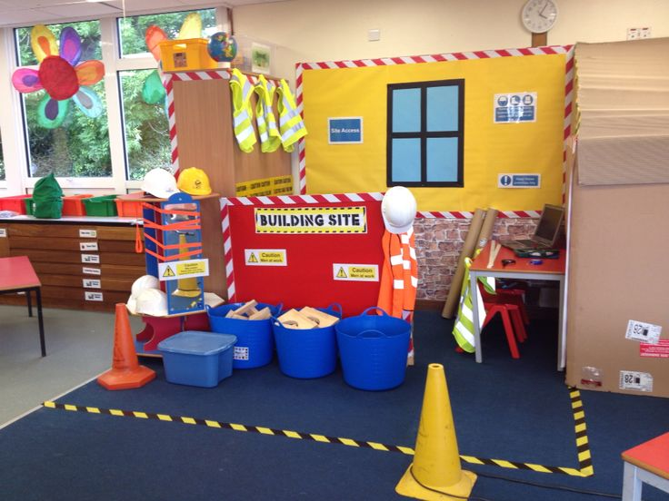 Builders office role play area drama centers pinterest