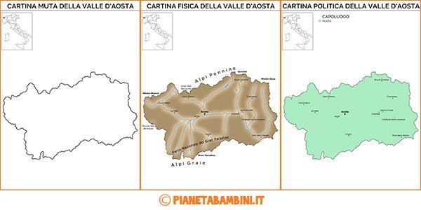 valle d'aosta cartina muta - Cerca con Google