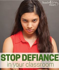 You know that moment of panic when a student's being outright defiant!? Don't ignore - and don't cower. Here's 4 simple steps to stop defiance in your classroom. Great advice for teachers on how to handle a defiant student.