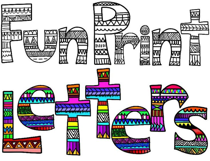 love these letters @Yuri Goytacaz Jo @Olivia García Thompson , good ideas for the project!! how to do tribal print letters | Clip Art Collaborators: Fun Print Alphabet Clip Art!