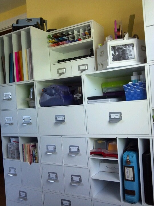 Michaels Recollection cubes  Craft room organization
