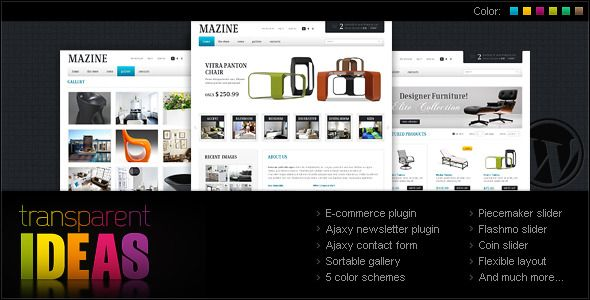 Mazine Wordpress Theme - A WP E-Commerce theme  #themeforest