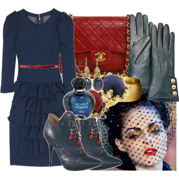 """""""Nautical Luxury"""" by sonia32 on Polyvore #vintagefashioninspired #chanel #ditavonteese"""