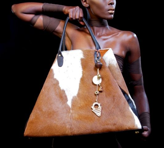 Huge cow hide bag - Adele Dejak.. lovely!