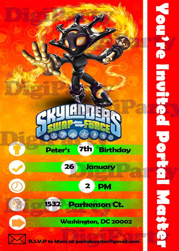 7 best 5th birthday images on Pinterest Skylanders party