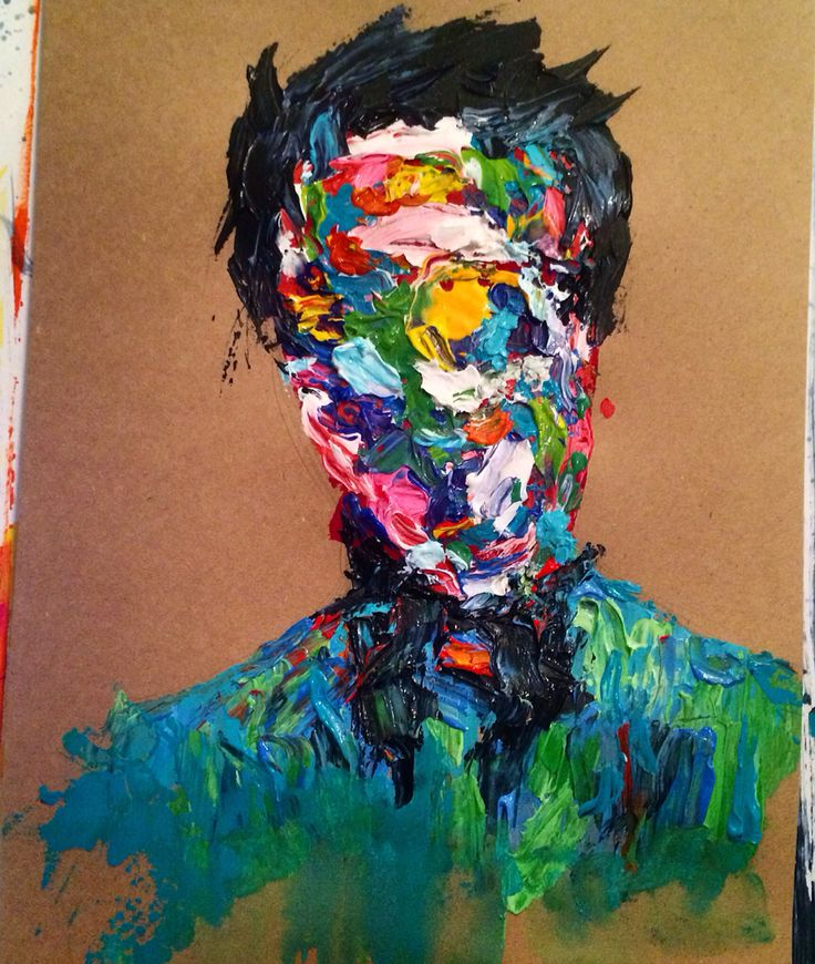 Abstracted portrait painting- Ashleigh Hunter