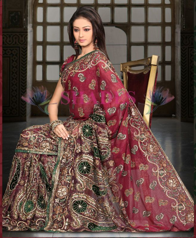 Wedding Bridal Sarees latest 2014 available at: http://www.shadesandyou.com/product-category/sarees/  #BridalSaree #BridalWeddingDress #BuySaree #BuyDesignerSaree #OnlineFashionStore