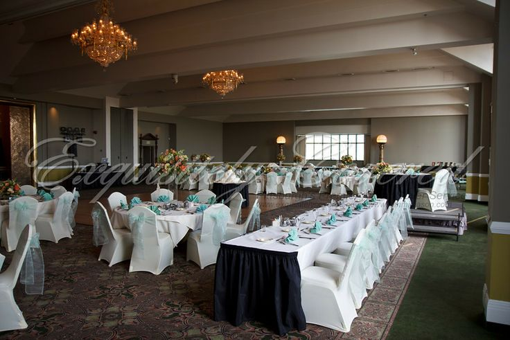 Ivory Chair Covers by Exquisitely Covered at Chestnut Ridge Golf Resort, Blairsville, PA  www.exquisitelycovered.com