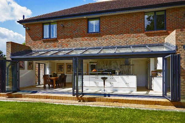 Kitchen Diner Extension Open Plan Glass Roof