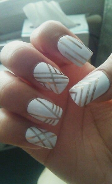 The 25 best tape nail designs ideas on pinterest diy nails striping tape design prinsesfo Image collections