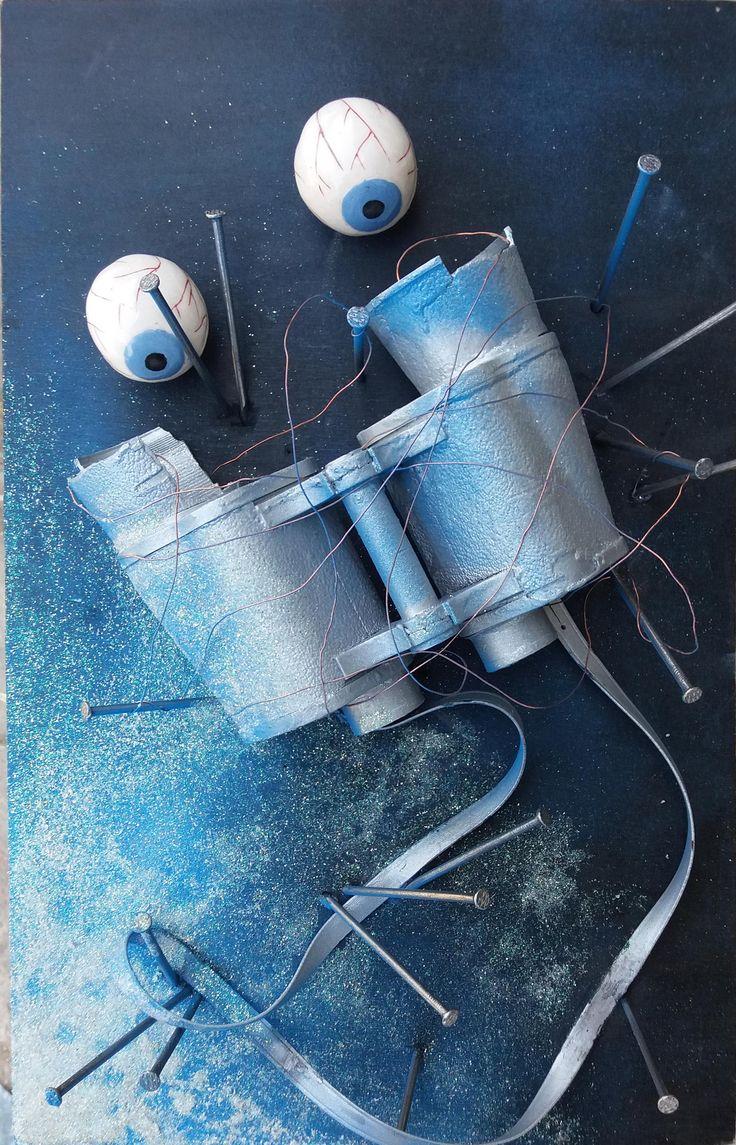"""""""Enigma onirico D17"""", Concorso Rotary 2016 - Simboli e inconscio, allieva Pardini Matilde cl.1D, Laboratorio artistico. Liceo artistico statale Stagi di Pietrasanta."""