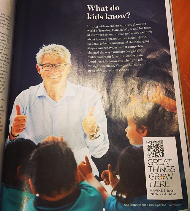 Have you seen our latest advert in the @airnz Kaiora magazine? Hawke's Bay is a great place to do business, just ask Hamish and the team at Furnware. Or better yet, the kids #business #hawkesbay #openforbusiness #GreatThingsGrowHere