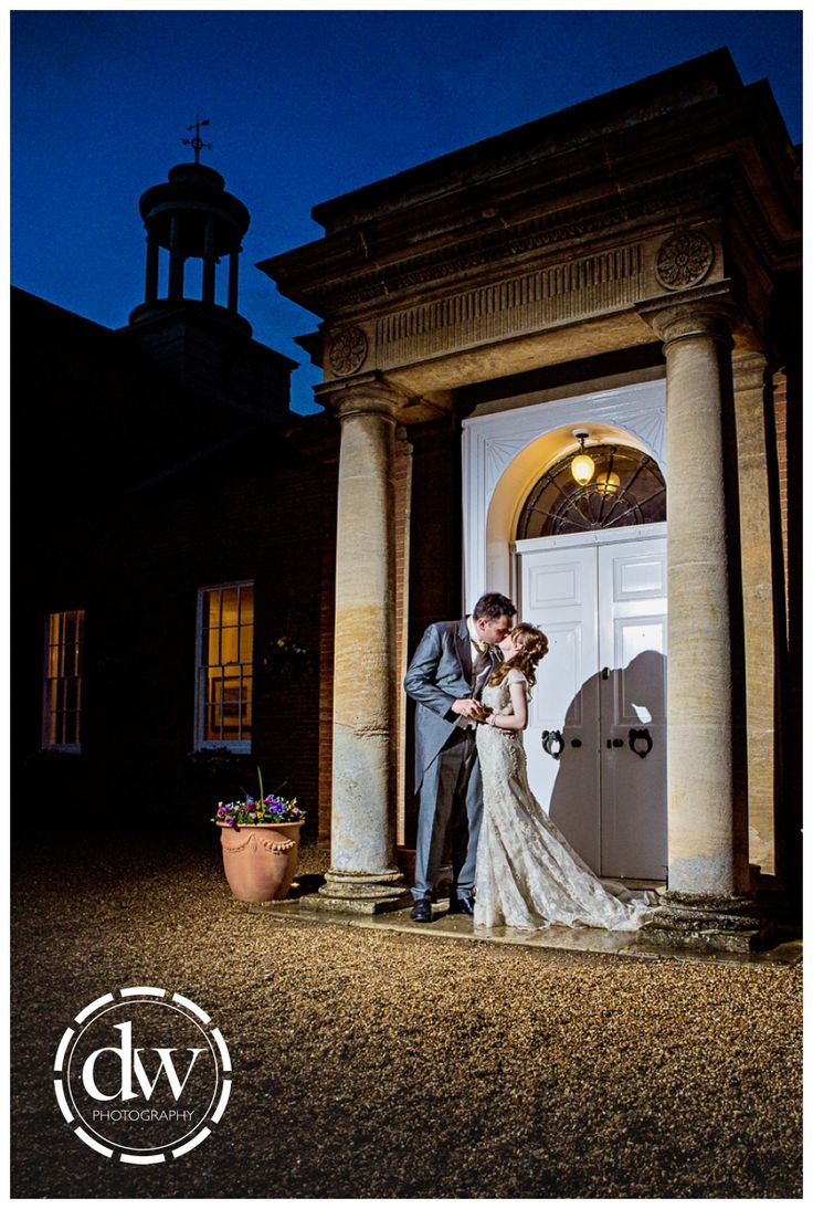 Bride and Groom Wedding Portrait at The Jockey Club Rooms, Newmarket