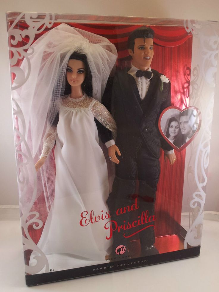 2008 ELVIS & PRISCILLA PRESLEY Barbie Doll Gift Set Collector Edition! NEW! #Mattel2008BarbieDollGiftset