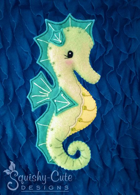 Seahorse Sewing Pattern PDF Ocean Stuffed by SquishyCuteDesigns