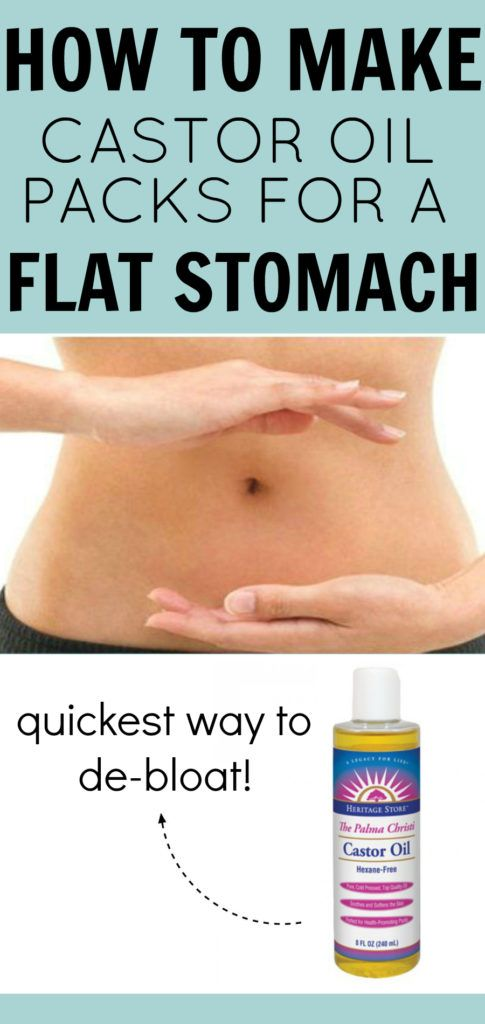How to make Castor Oil packs to detox and de-bloat. Flatten stomach in a week!