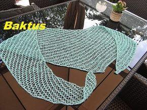 Sommer Tuch Schal stricken*Baktus*Halstuch*sehr einfach*Tutorial Handarbeit - YouTube