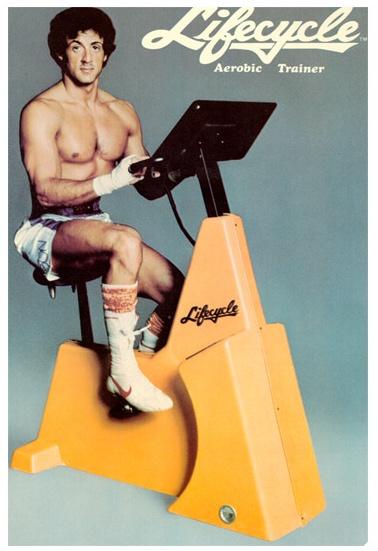 Klassisches Ergobike aus der ersten Generation mit Sylvester Stallone #fitness via @reviwell