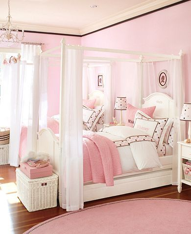 ... Girls Bedroom-So Pretty Pink and white girls bedroom – Girls Bedroom