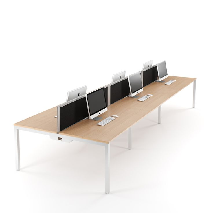 Relay Plus Bench Desking Provides Modern Office Furniture Workstation Systems With Sliding Desktops And Great Cable Management