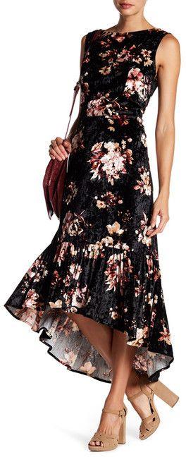 Eva Franco Brie Floral Velvet Dress