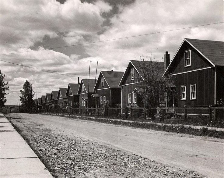 OMG... this brings back memories. The old Hollinger Houses on Mountjoy in Timmins, Ontario.