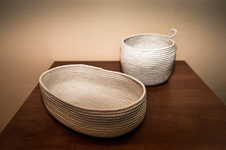 Košíky z prádelní šňůry