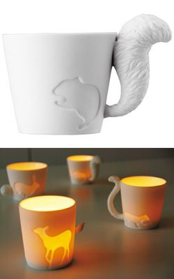 How cute are these! You can have tea in these or use them as a candle holder.