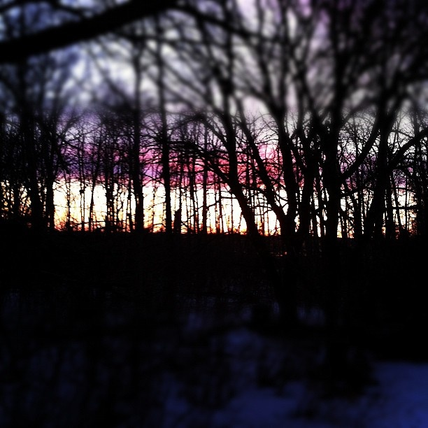 - @nediard | Webstagram  Beautiful sunset off my Aunt and Uncles back deck
