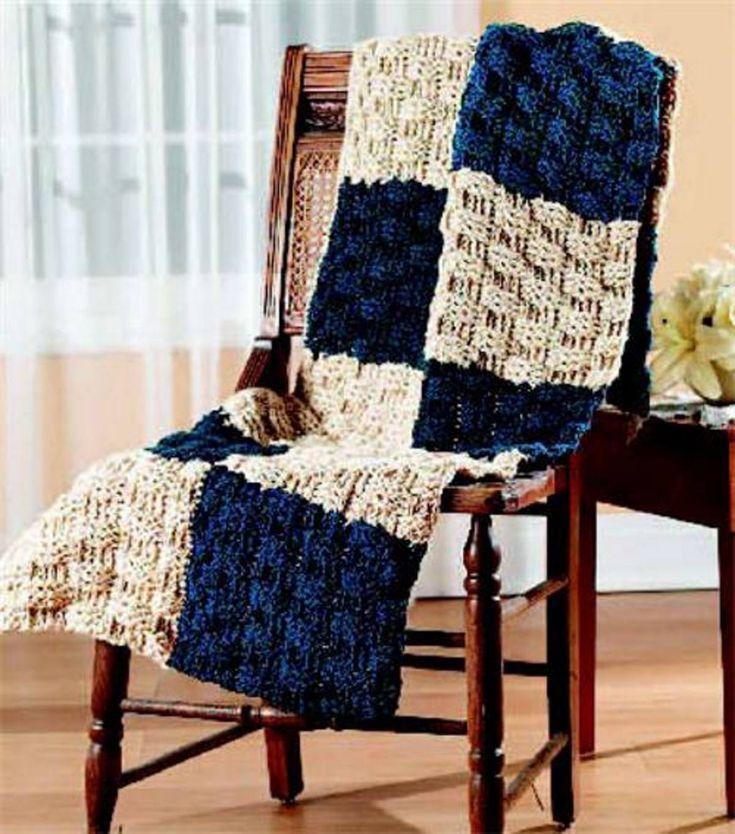 FREE Pattern from Joann.com | Create this cozy Basketweave Afghan