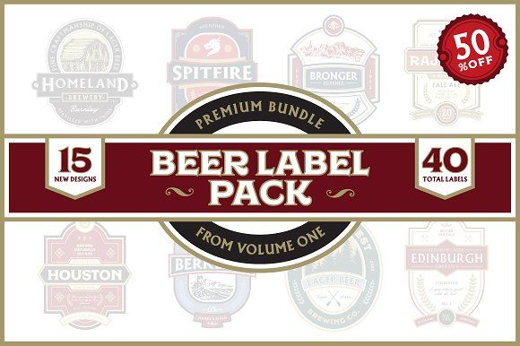 Premium Bundle Beer Label Pack By Rich Graphic On Creativemarket