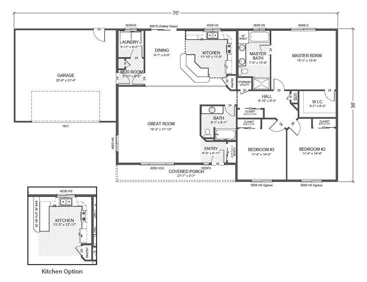 37 best house plans images on pinterest arquitetura for Rambler floor plans mn
