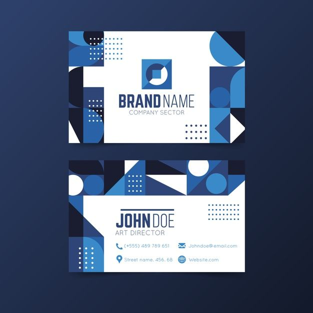 Download Abstract Classic Blue Business Card Template For Free Blue Business Card Business Card Template Card Template