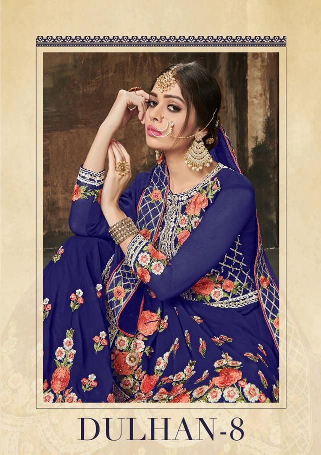 af1b73fc05 Deepsy Suits Dulhan Vol 8 Heavy Embroidered Faux Georgette Sarara Style  Salwar Kameez at Wholesale Rate