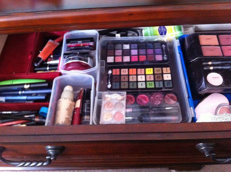 Organized makeup .