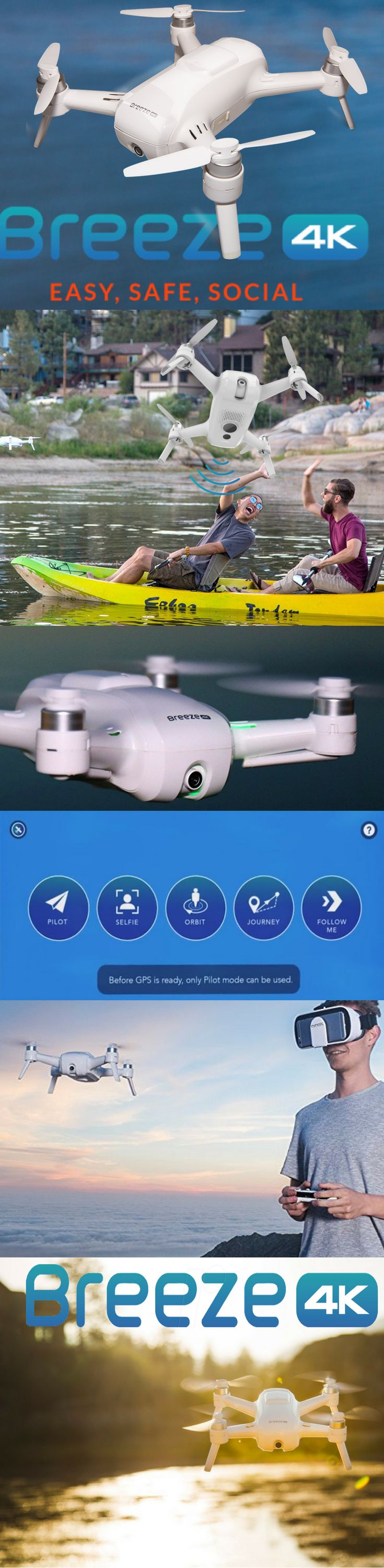 Yuneec Breeze 4k Selfie Drone You can easily store your Yuneec selfie drone in almost and size bag. The integrated and pivotable 4K UHD camera captures beautiful sharp selfies, aerial pics and snapshots.
