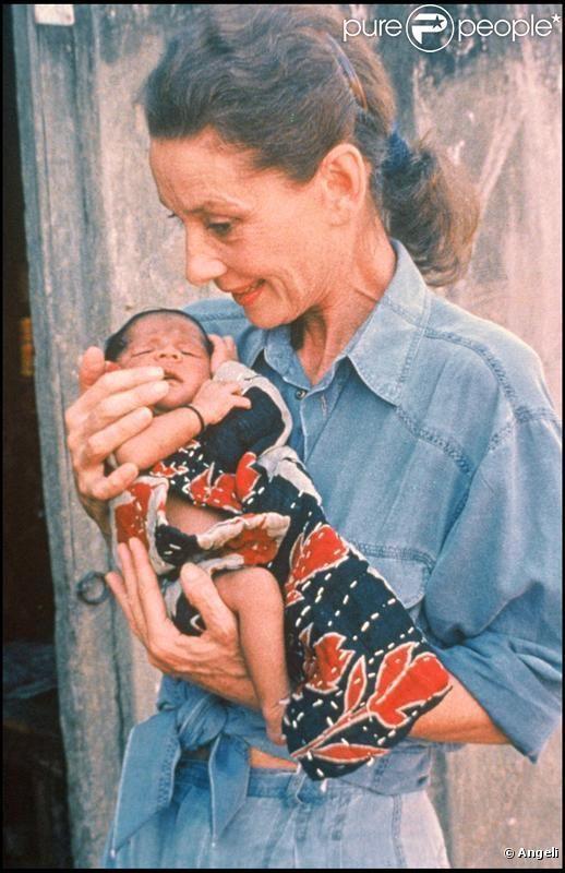 Audrey Hepburn quelques mois avant de disparaître, en mission humanitaire en 1992