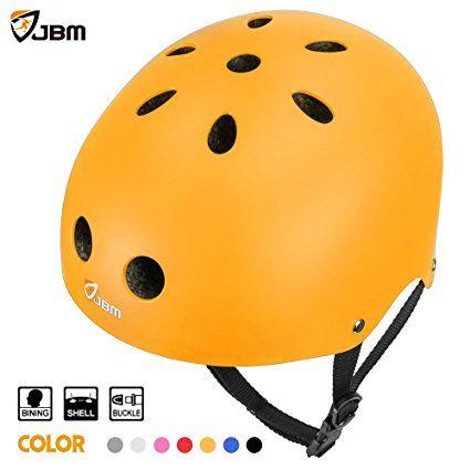 JBM international EPS foam Impact resistance & Ventilation Skateboard Helmet for Multi-sports, Small - Yellow